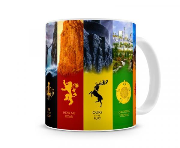 Caneca Game Of Thrones Casas VI - Artgeek