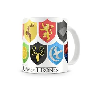 Caneca Game Of Thrones Escudos - BRANCO