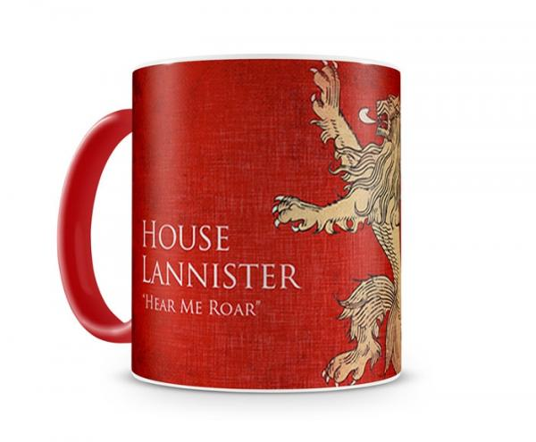 Caneca Game Of Thrones Lannister Color Red - Artgeek