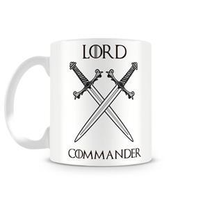 Caneca Game Of Thrones Lord Commander - BRANCO