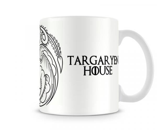Caneca Game Of Thrones Targaryen White - Artgeek