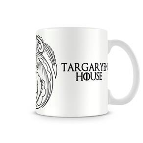 Caneca Game Of Thrones Targaryen White - BRANCO