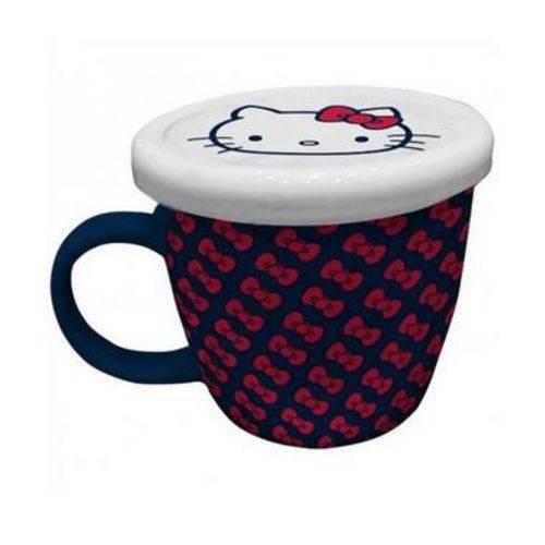 Tudo sobre 'Caneca Porcelana C/ Tampa Hello Kitty Laços'