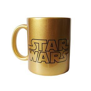 Caneca Star Wars Darth Vader Dourada - ÚNICA
