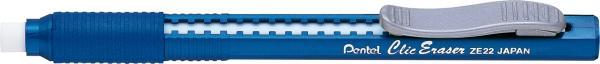 Caneta Borracha Pentel Clic Eraser Azul ZE22-C