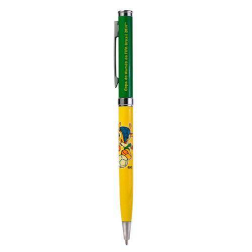 Tudo sobre 'Caneta Esferográfica Fuleco - Verde e Amarela - com Blister'