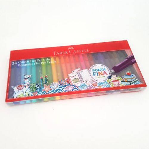 Tudo sobre 'Caneta Fine Pen Colors Faber Castell 24 Cores'