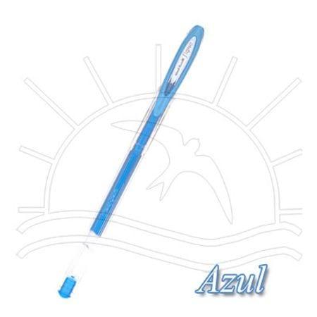 Caneta Gel Uni-Ball Signo - Metálica Noble Azul