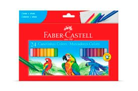Caneta Hidrocor 24 Cores (Faber Castell)