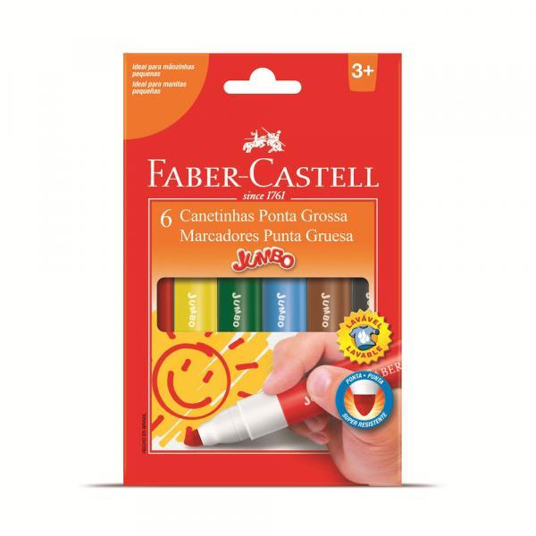 Caneta Hidrográfica 06 Cores Jumbo - Faber Castell