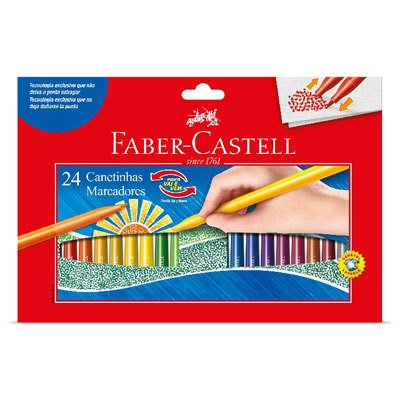 Caneta Hidrográfica 24 Cores Vai e Vem - Faber-Castell