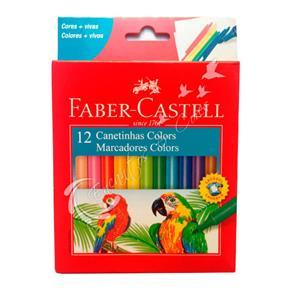 Caneta Hidrográfica com 12 Cores + Vivas Faber Castell
