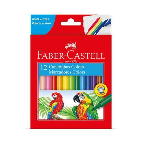 Caneta Hidrográfica Faber Castell - 12 Cores