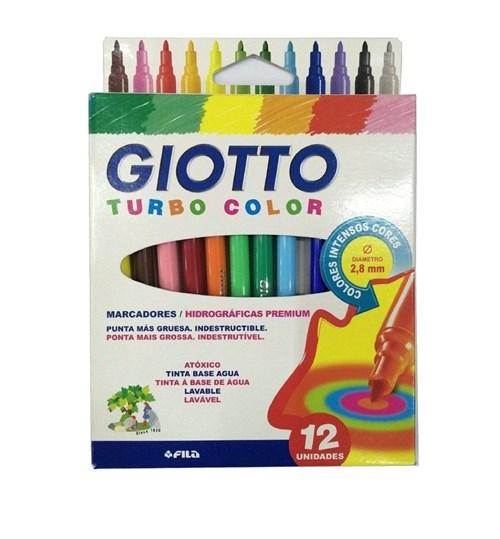 Caneta Hidrografica Turbo Color Giotto 12 Cores