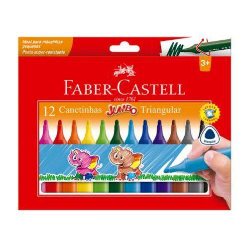 Caneta Hidrogr�fica Jumbo - Faber Castell - 12 Cores