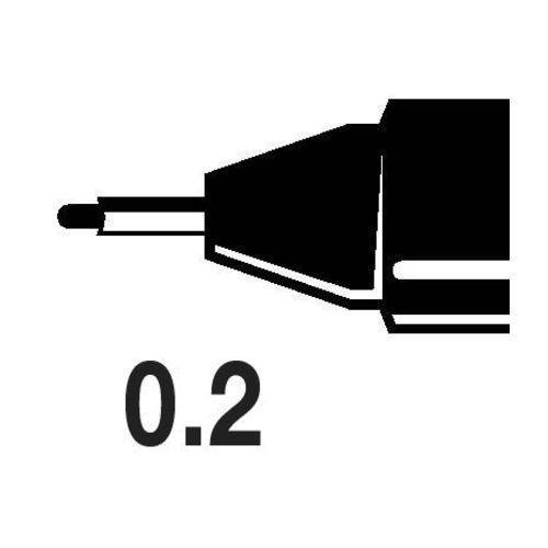 Caneta Nankin Uni Pin Fine Line Preta 0.2mm