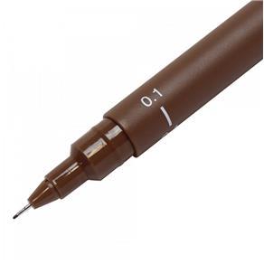 Caneta Nankin Uni Pin Fine Line Sépia 0.1mm