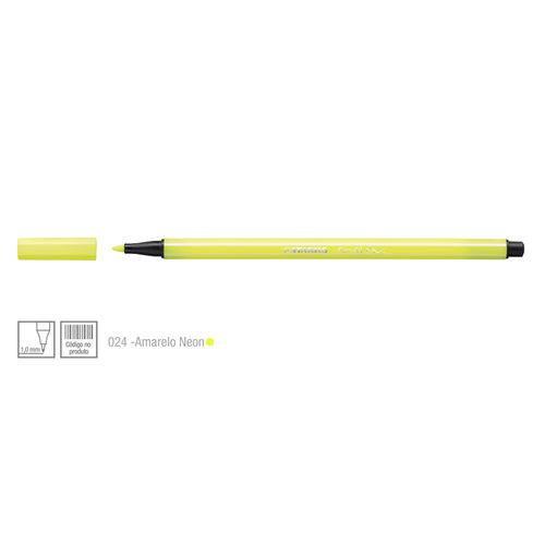 Caneta Pen 68 Cor 024 Amarelo Neon - Stabilo
