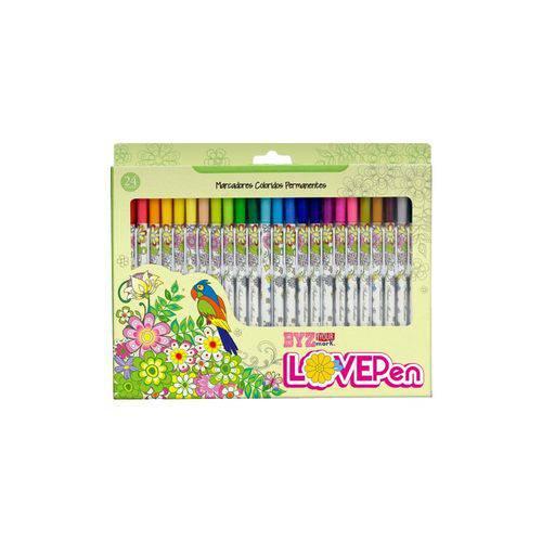 Tudo sobre 'Caneta Permanente Bismark Love Pen 024 Cores PK024L'