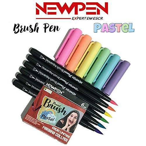 Tudo sobre 'Caneta Pincel Brush Pastel Mariana Collyer com 6 Newpen'