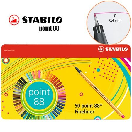 Tudo sobre 'Caneta Stabilo Metal Point 88 - Estojo C/ 50'