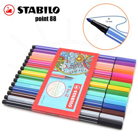 Caneta Stabilo Pen 68 - Estojo C/ 15 Unidades