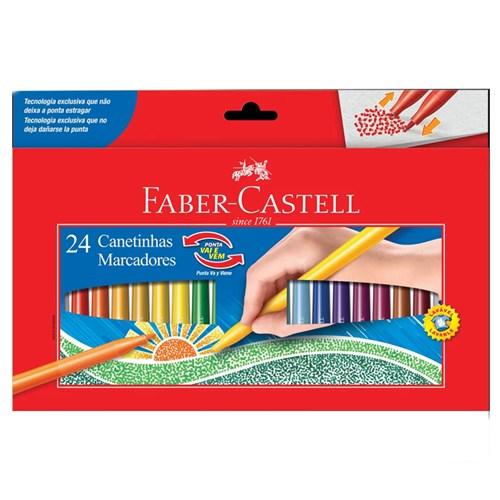 Canetas Hidrográficas - Vai e Vem - 24 Cores - Faber-Castell