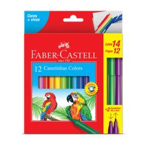 Canetinha 12 Cores 2 Vai e Vem - Faber Castell