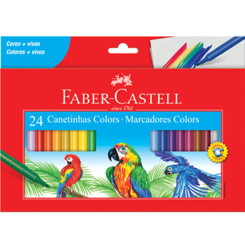 Canetinha Faber Castell 24 Cores