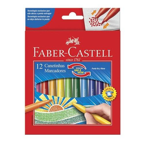 Canetinha Faber Castell Ponta Vai e Vem 12 Cores Original