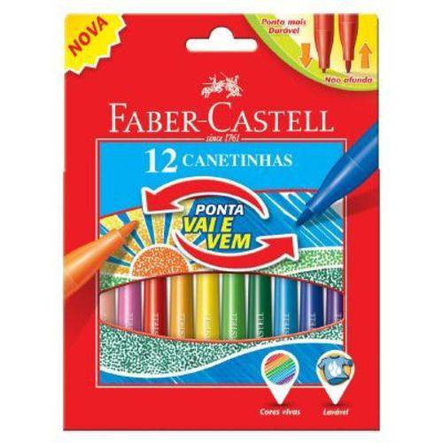 Canetinha Faber-Castell Vai e Vem 12 Cores