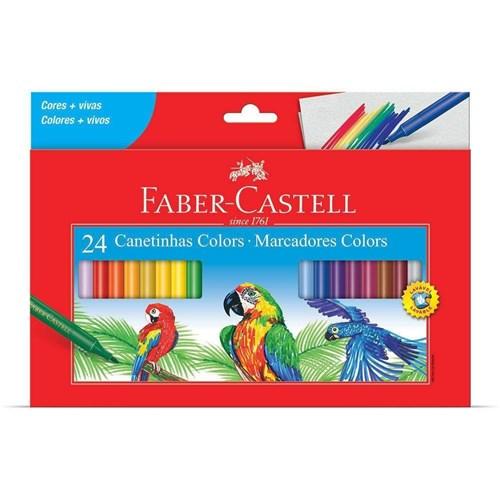 Canetinha Hidrográfica 24 Cores Colors Faber Castell