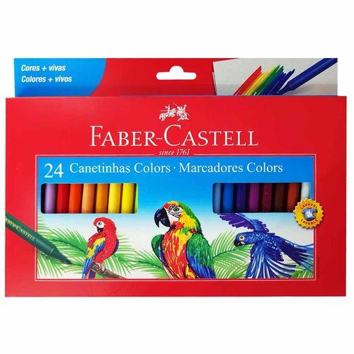 Canetinha Hidrográfica 24 Cores Faber Castell