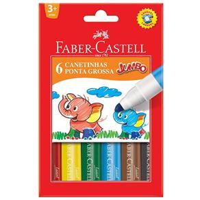 Canetinha Hidrográfica Faber Castell Jumbo 150206gzf - 6 Cores