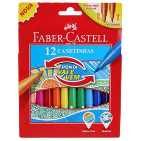 Canetinha Hidrográfica Faber Castell Vai e Vem 15.0112VVZF - 12 Cores