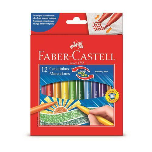 Canetinha Vai e Vem 12 Cores Faber Castell