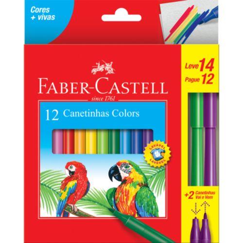 Canetinhas Colors Faber-castell 12 Unidades