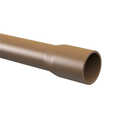 "Cano Marrom PVC Soldável 60mm ou 2"" 6.00m Tigre"