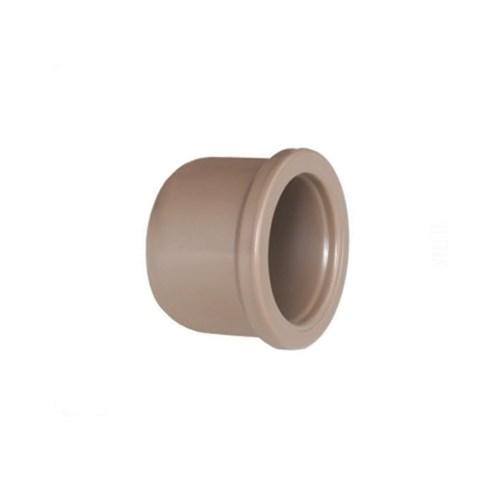 "Cap Marrom PVC Soldável 20mm ou 1/2"" Plastilit"