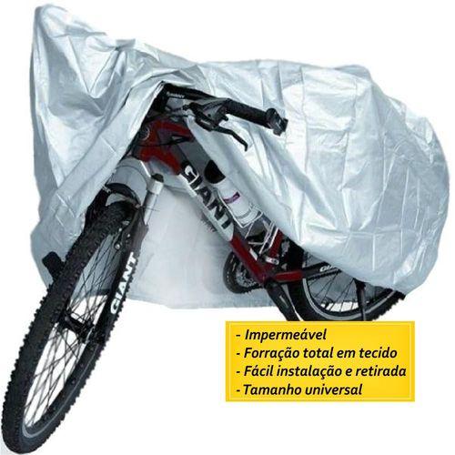 Tudo sobre 'Capa Cobrir Bicicleta Impermeável Forro Total Tamanho Único.'