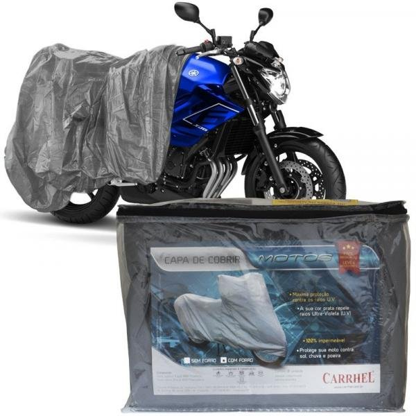 Capa Cobrir Moto Protetora Forrada Impermeável Anti Uv Tamanho G Carrhel