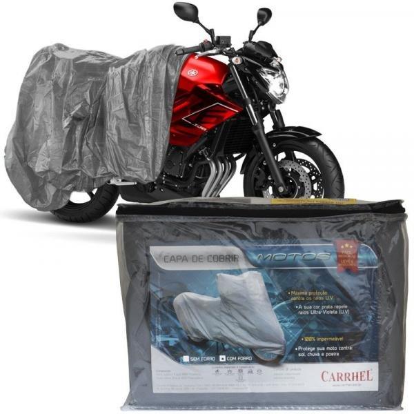 Capa Cobrir Moto Protetora Forrada Impermeável Anti Uv Tamanho M Carrhel