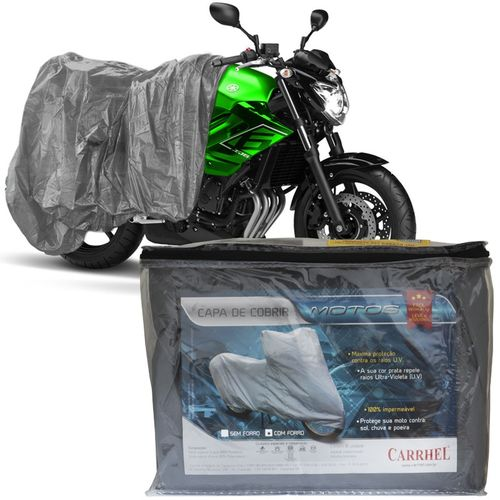 Capa Cobrir Moto Protetora Forrada Impermeável Anti Uv Tamanho P Carrhel