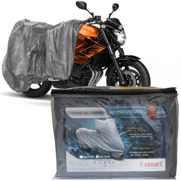 Capa Cobrir Moto Protetora Forrada Impermeável Anti Uv Tamanho P M G Carrhel