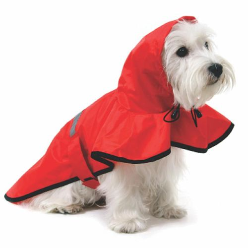 Tudo sobre 'Capa de Chuva para Cachorro Vermelho Tm. G'