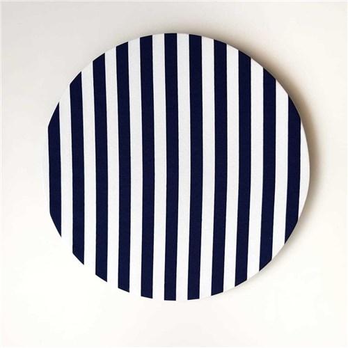 Capa de Sousplat Listrada Azul Marinho