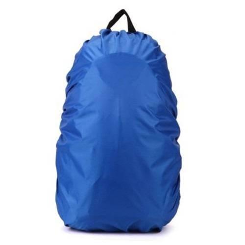 Tudo sobre 'Capa Mochila Mala Impermeável Proteção Chuva Média Azul Azul'
