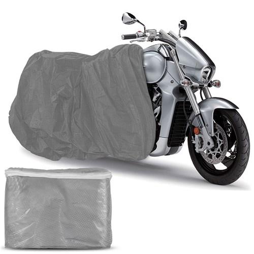 Capa para Cobrir Moto Proteção Impermeável Raios Uv com Elástico não Risca a Pintura Universal Prata | Tamanho M