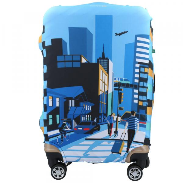 Capa para Mala de Tecido City - Azure