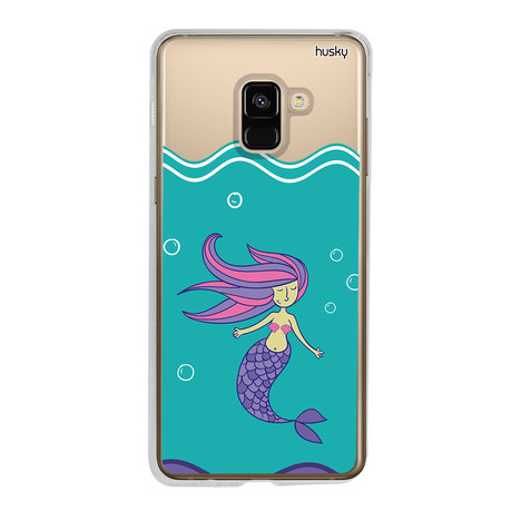 Capa Personalizada para Galaxy A8 (2018) - Sereia - Husky